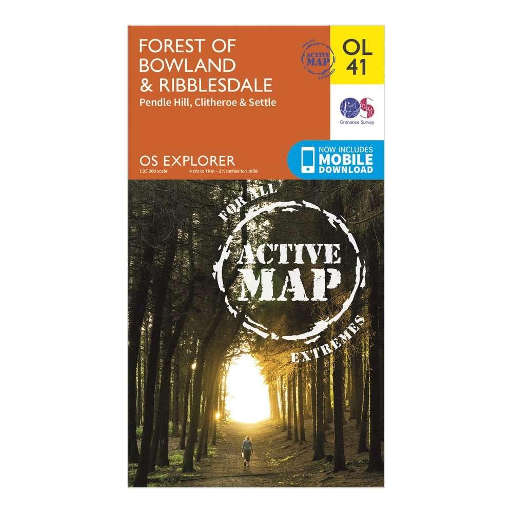 ORDNANCE SURVEY Explorer Active OL41 Forest of Bowland & Ribblesdale Map With Digital Version
