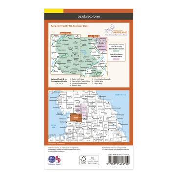 Orange Ordnance Survey Explorer Active OL41 Forest of Bowland & Ribblesdale Map With Digital Version