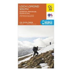 ORDNANCE SURVEY Explorer OL 38 Loch Lomond South Map