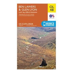 ORDNANCE SURVEY Explorer OL 48 Ben Lawers & Glen Lyon Map