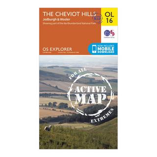 Explorer Active OL16 The Cheviot Hills Map With Digital Version