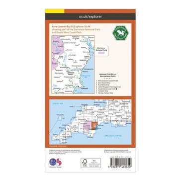 Orange Ordnance Survey Explorer Active OL44 Torquay & Dawlish Map With Digital Version