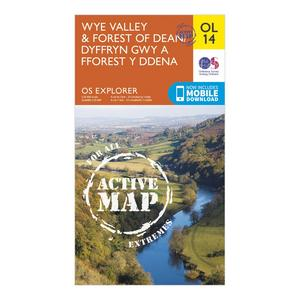 ORDNANCE SURVEY Explorer Active OL 14 Wye Valley & Forest of Dean Map
