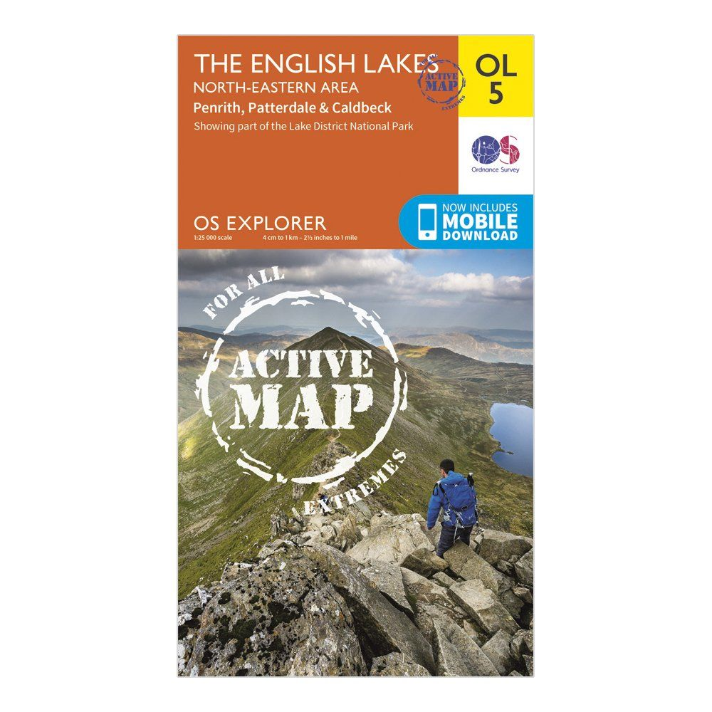 ORDNANCE SURVEY Explorer Active OL 5 The English Lakes - North Eastern Area Map