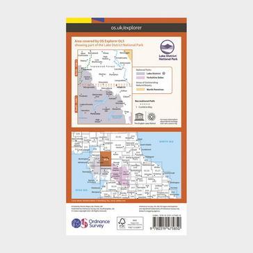 Orange Ordnance Survey Explorer Active OL5 The English Lakes - North Eastern Area Map With Digital Version