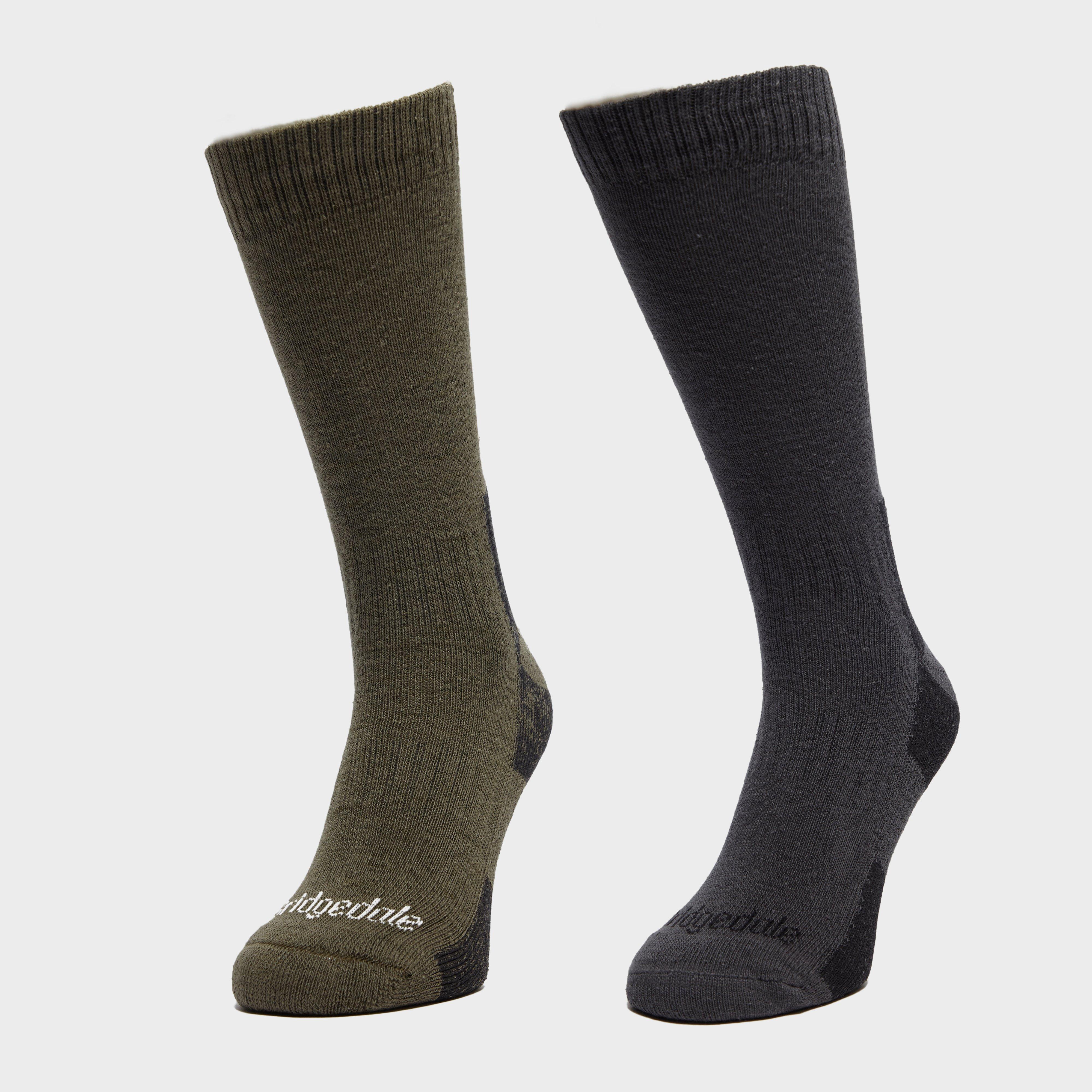 Bridgedale Bridgedale Mens Dingle Sock Multipack - Khaki, Khaki