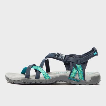 Blue Merrell Women's Terran Lattice Sandals