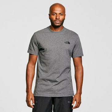Grey|Grey The North Face Men's Short Sleeve Simple Dome T-Shirt