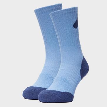 Light Blue Peter Storm Women's Double Layer Socks - Twin Pack