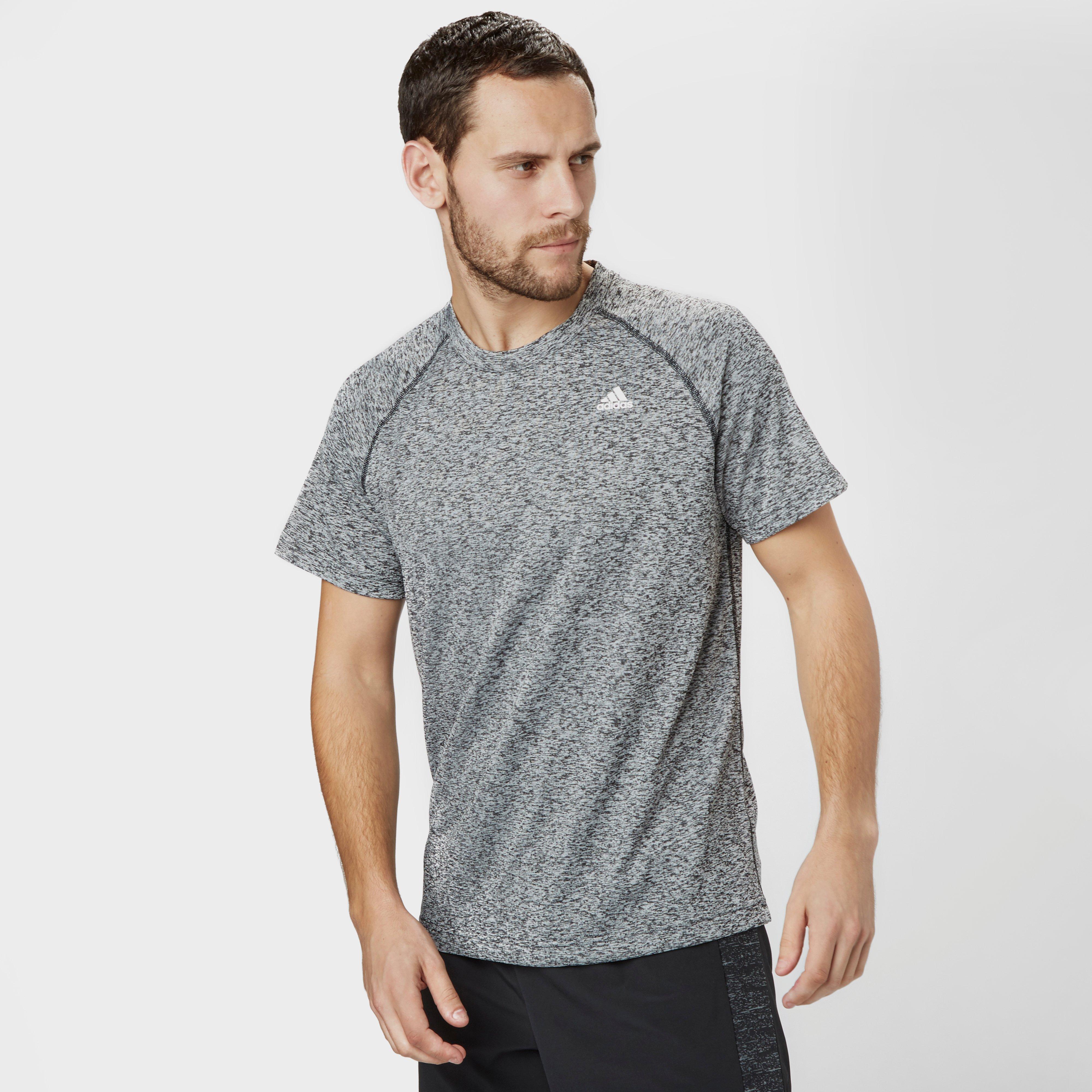 Image of Adidas Men's Baselayer Heathered T-Shirt, Black