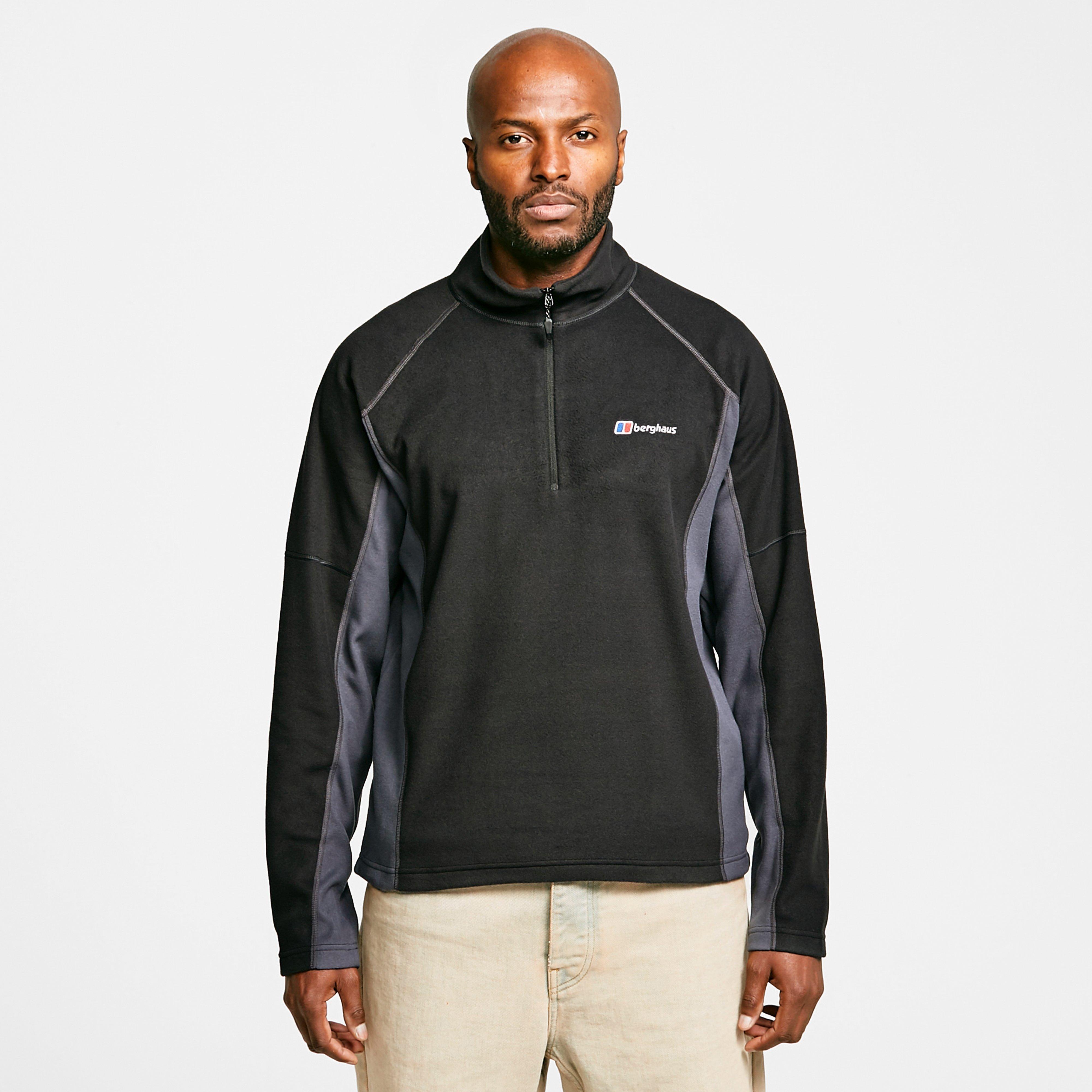 Berghaus Men's Hartsop Half Zip Fleece - Black/Grey, Black/Grey