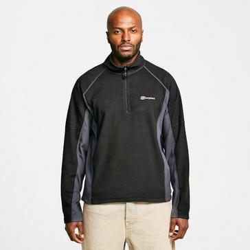 Black Berghaus Men's Hartsop Half Zip Fleece