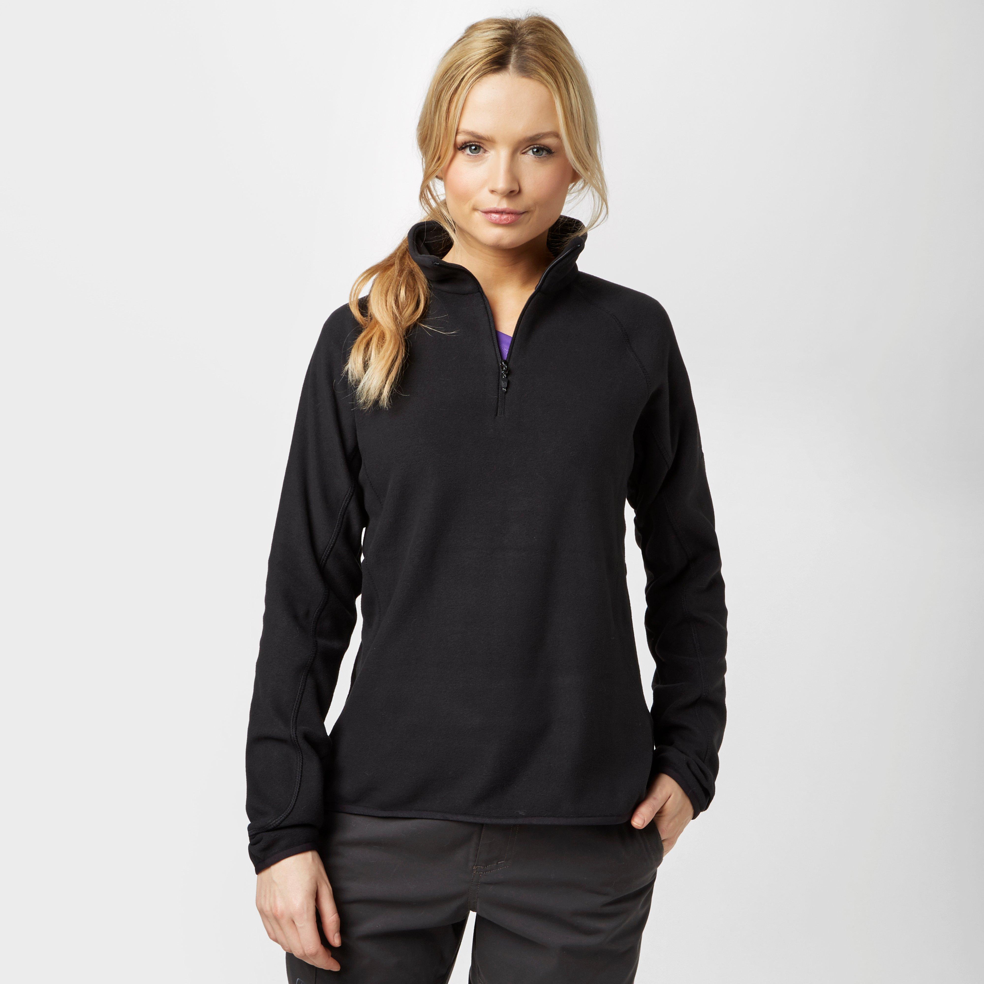 Berghaus Women's Hartsop Half-Zip Fleece - Black, Black