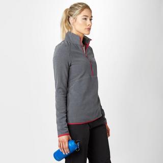 Women's Striped Half-Zip Fleece