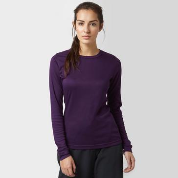 Purple Peter Storm Women's Long Sleeve Thermal Crew Baselayer Top