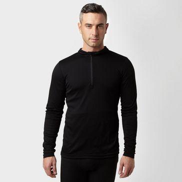 8cf808516bda54 Black PETER STORM Men s Long Sleeve Zip Neck Thermal T-Shirt ...