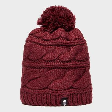 cdbd511a8155e Red THE NORTH FACE Women s Tri Cable Pom Beanie