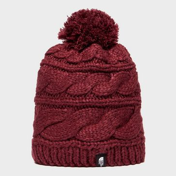 8d393b604d3 Red THE NORTH FACE Women s Triple Cable Beanie ...