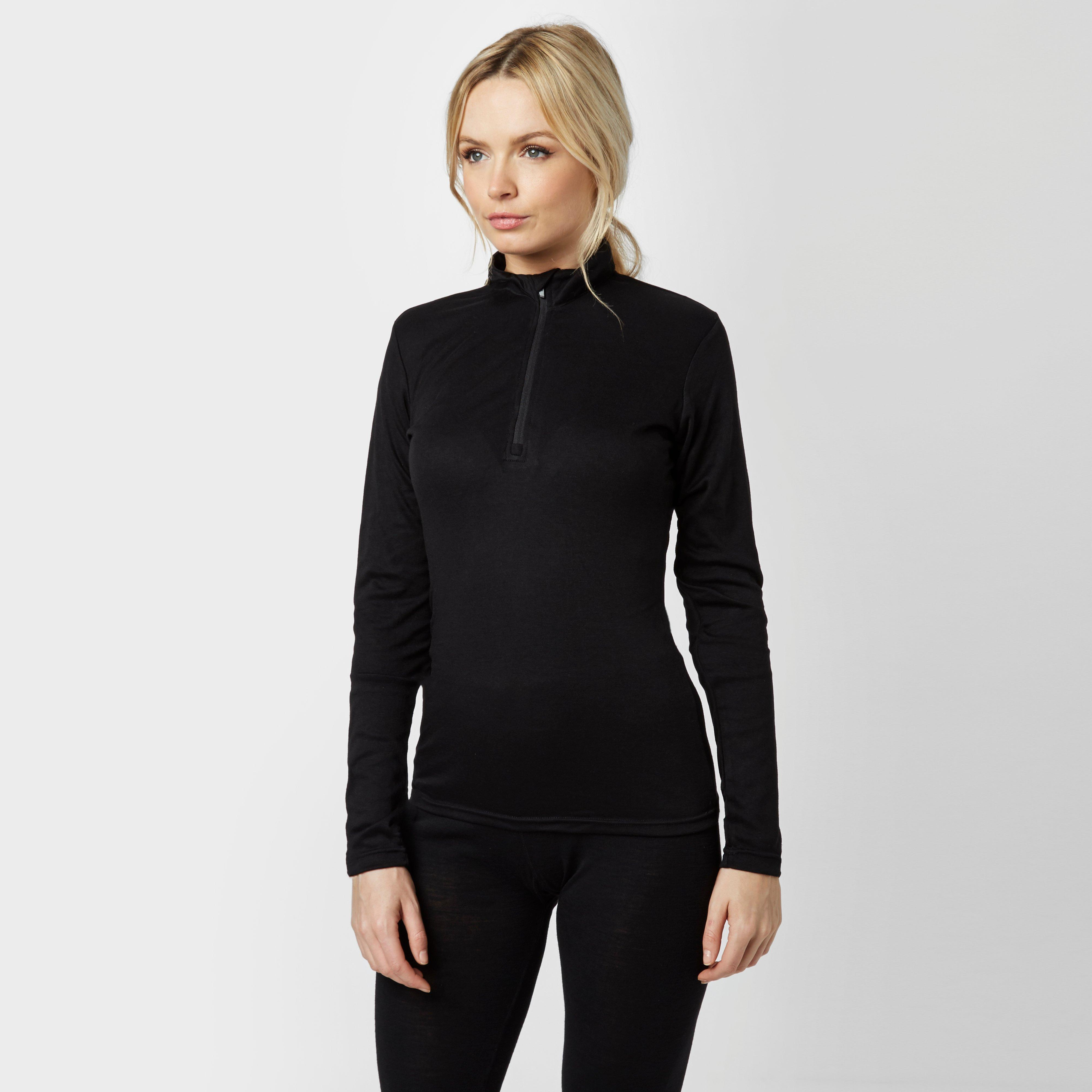 Image of Peter Storm Women's Long Sleeve Thermal Crew Baselayer - Black/Blk, Black/BLK