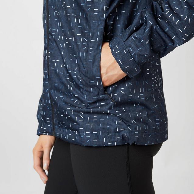 99e256c25e64 Blue adidas Women s Printed Wandertag Jacket image 4