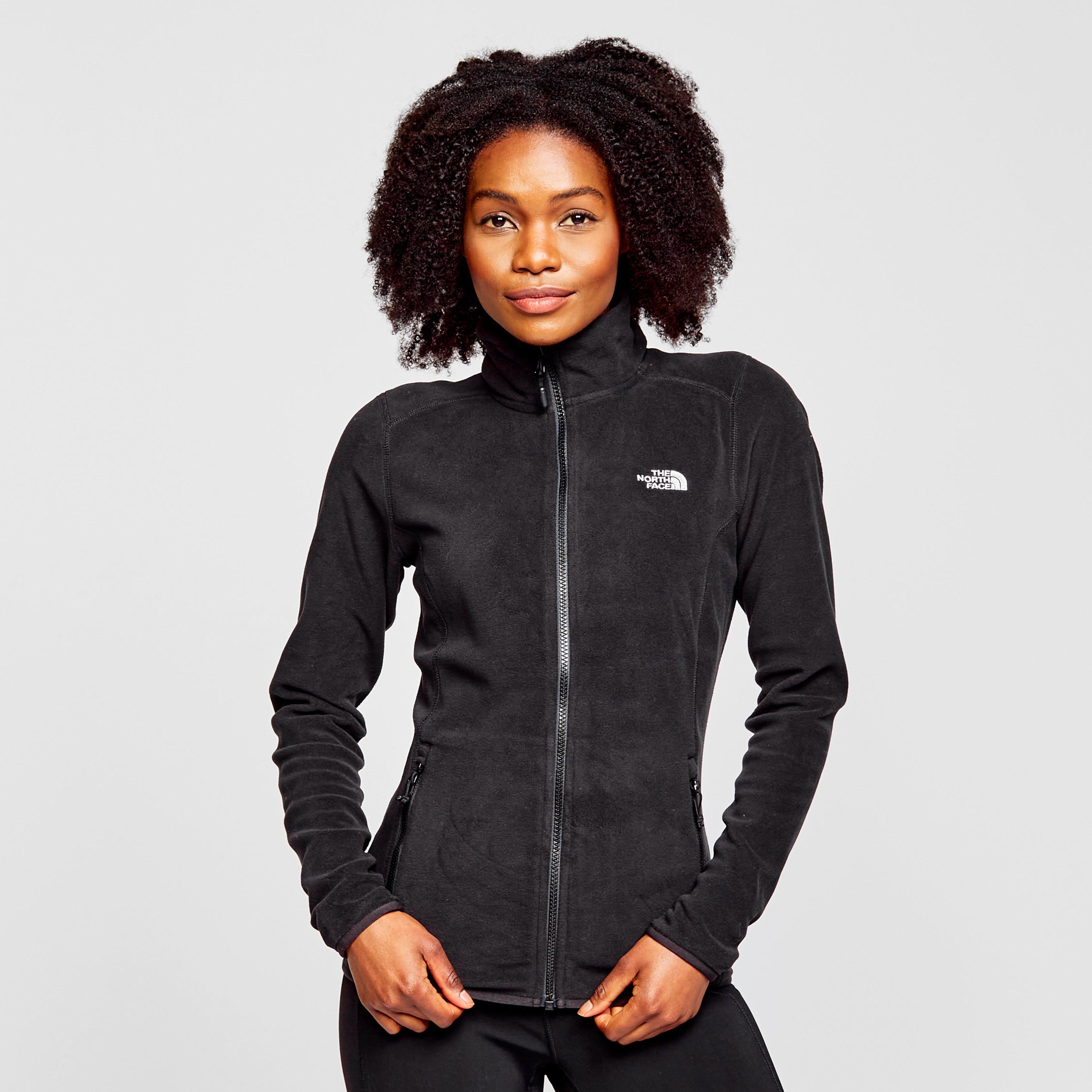 Womens black fleece zip jacket