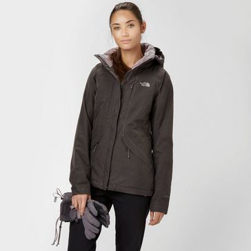 10076fbf88 Grey THE NORTH FACE Women s Inlux Insulated Jacket ...
