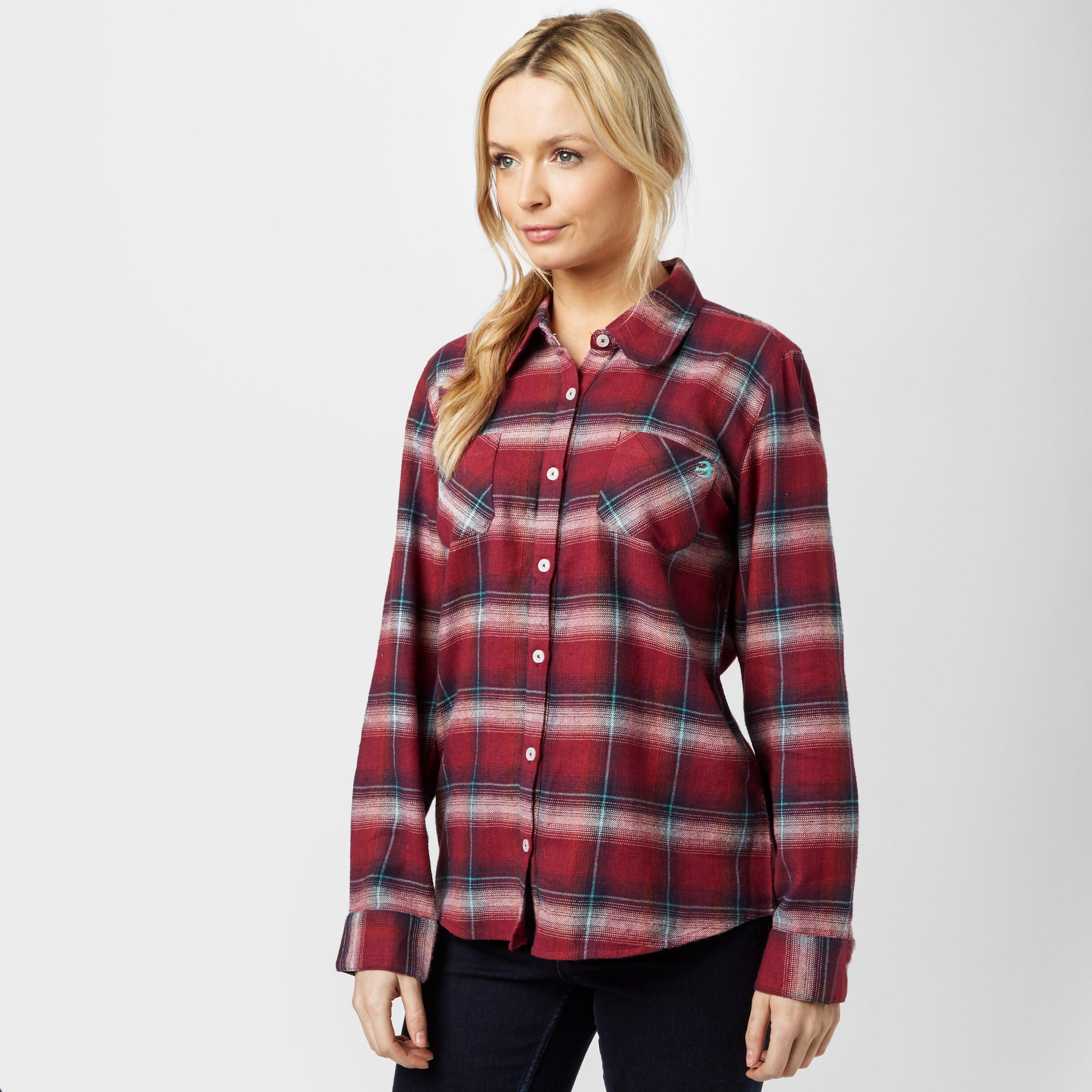 Brakeburn Brakeburn Womens Check Flannel Shirt - Red, Red
