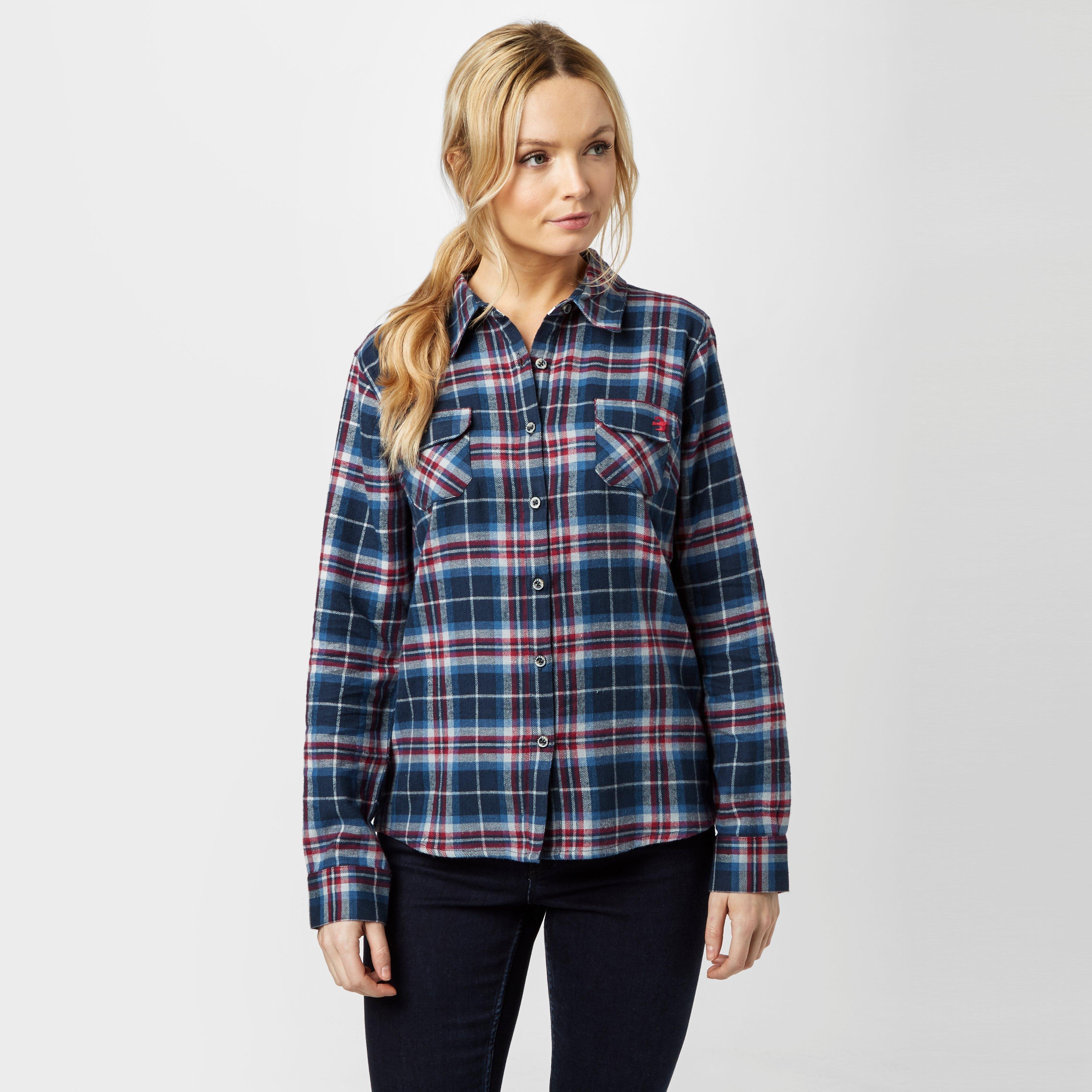 Brakeburn Brakeburn Womens Check Flannel Shirt - Navy, Navy