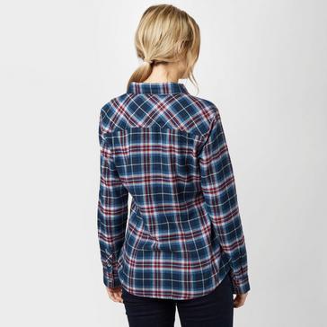 Navy Brakeburn Women's Check Flannel Shirt