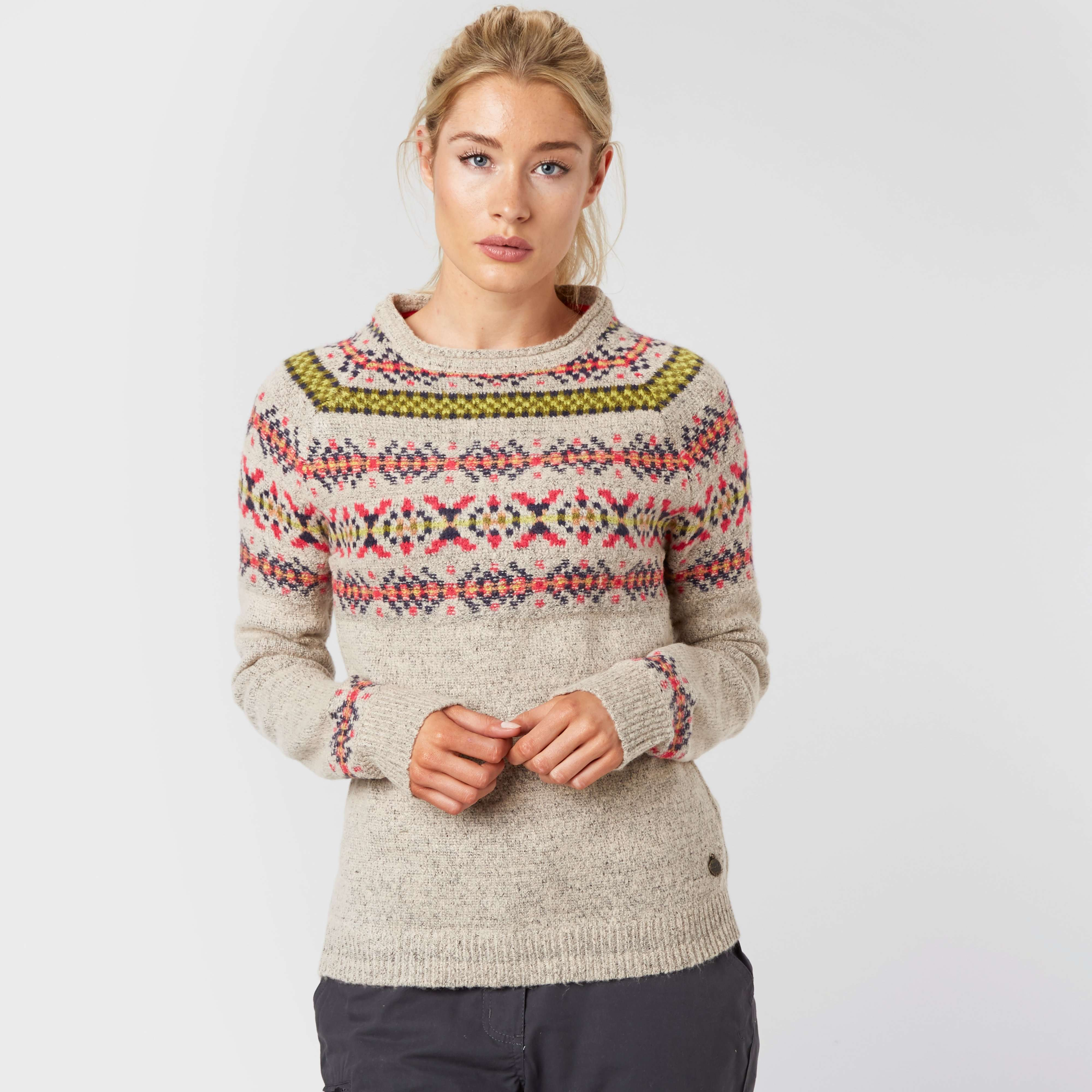 WEIRD FISH Women's Berta Fair Isle Patterned Jumper