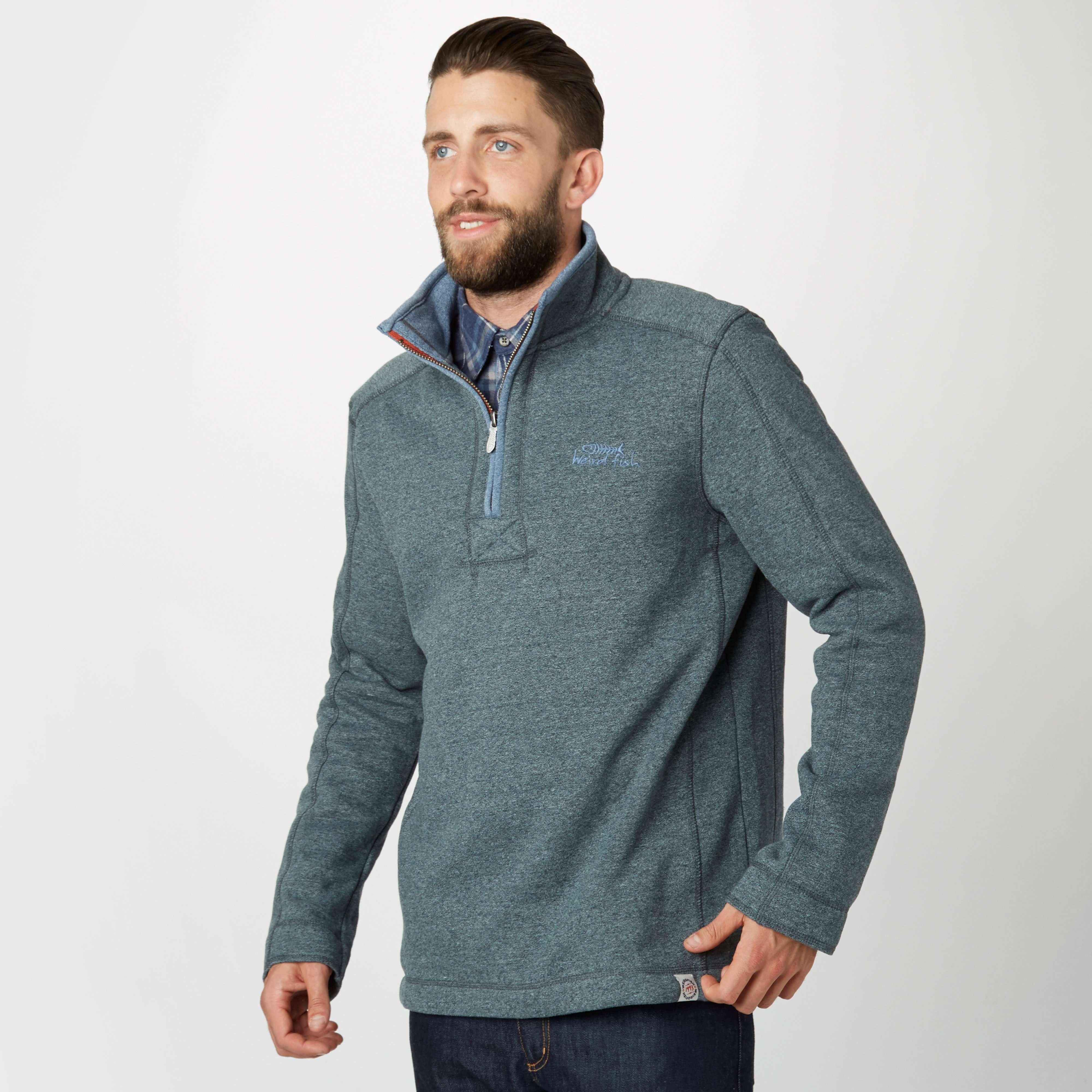 WEIRD FISH Men's Gentry Half Zip Sweatshirt