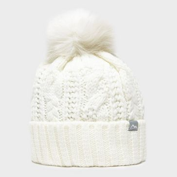 bf18fa1828473 White PETER STORM Women s Daisy Cable Knit Hat ...