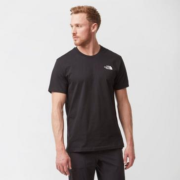 Black The North Face Men's Short Sleeve Simple Dome T-Shirt
