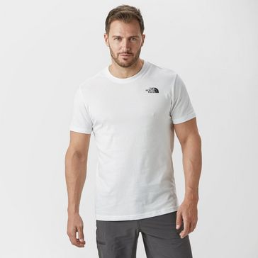 7f72aa52 White THE NORTH FACE Men's Red Box T-Shirt ...