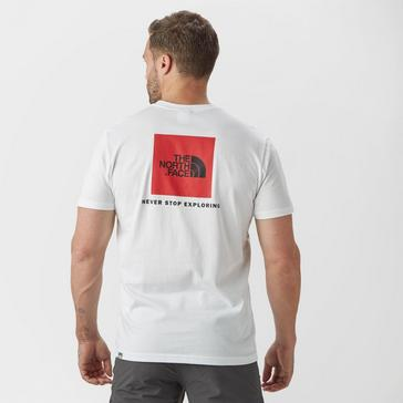White The North Face Men's Redbox Short Sleeve T-Shirt