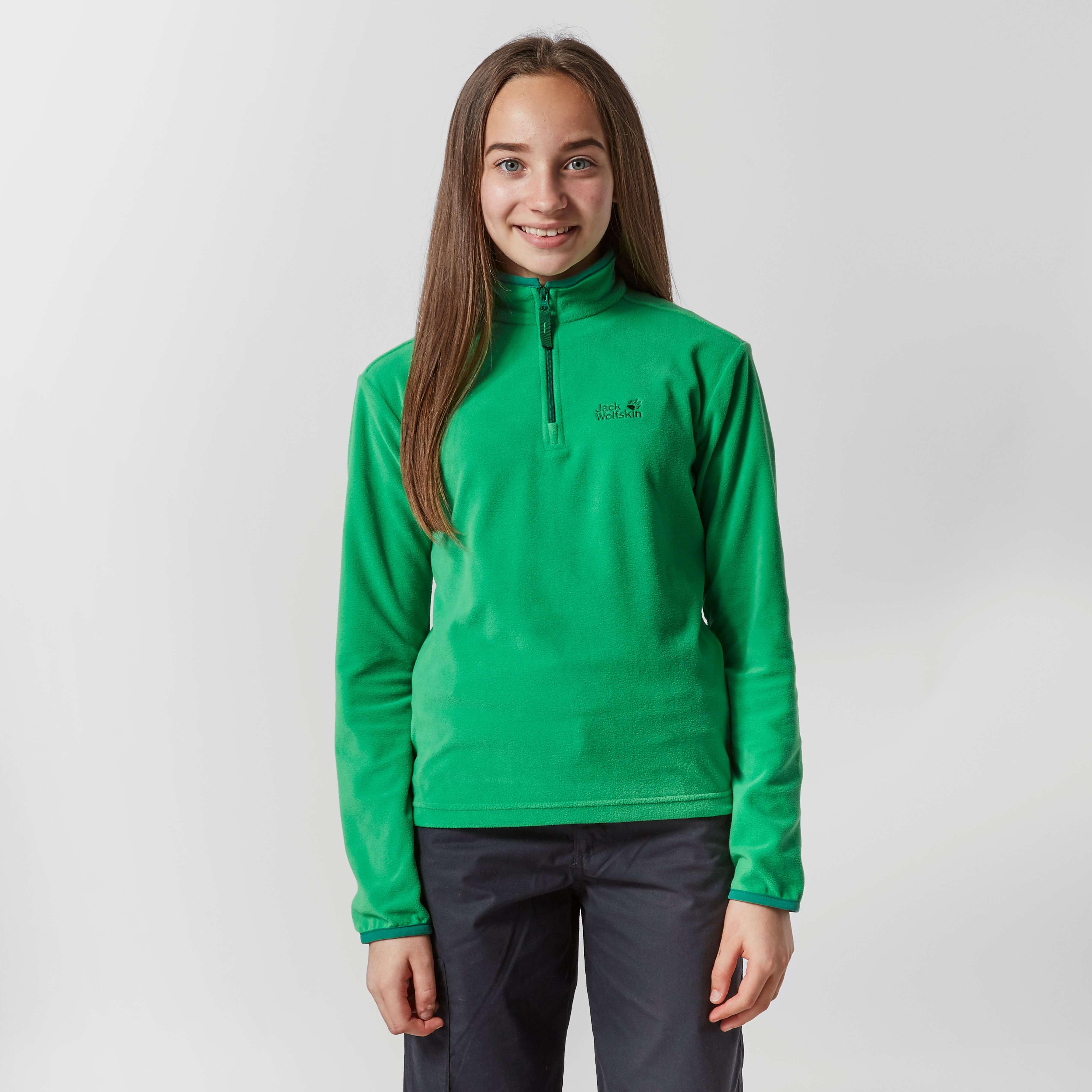 JACK WOLFSKIN Girl's Gecko Half Zip Fleece