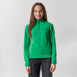 JACK WOLFSKIN Girl's Gecko Half Zip Fleece