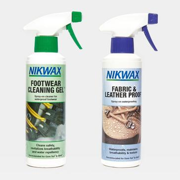 N/A Nikwax Fabric and Leather Reproofer Spray and Footwear Cleaning Gel 300ml Twin Pack
