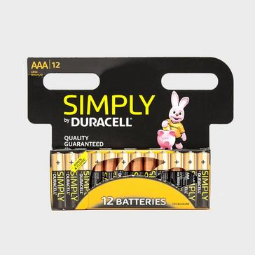 Black Duracell AAA 2400 Batteries - 12 Pack