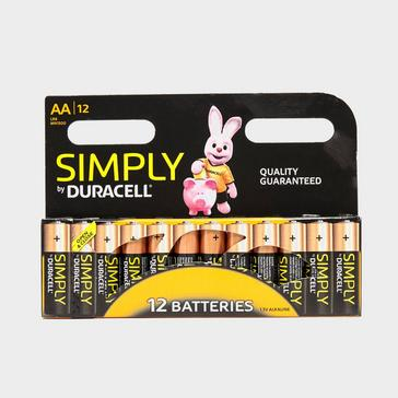 Black Duracell AA Batteries - 12 Pack