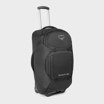 Black Osprey Sojourn 80L Wheeled Convertible Pack