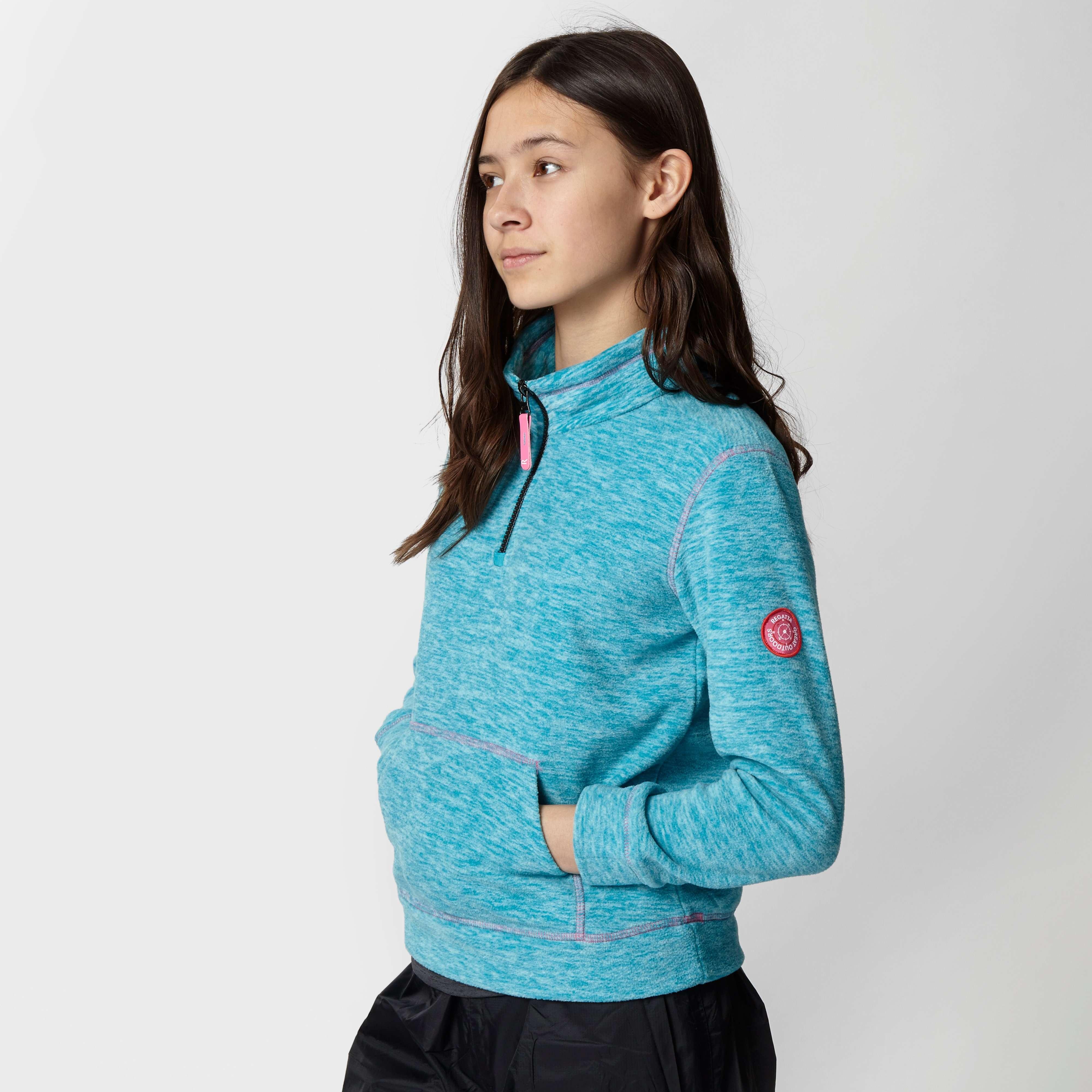REGATTA Girl's Berty Quarter Zip Fleece