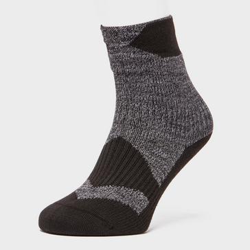 Black Sealskinz Men's Thin Ankle Socks