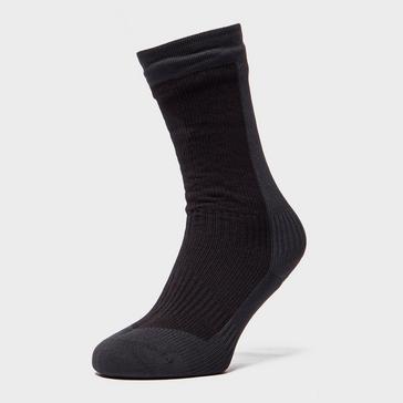 Black Sealskinz Men's Mid length Hiking Socks