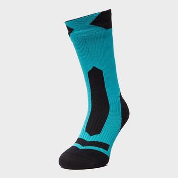 Green Sealskinz Men's Trek Mid Length Socks