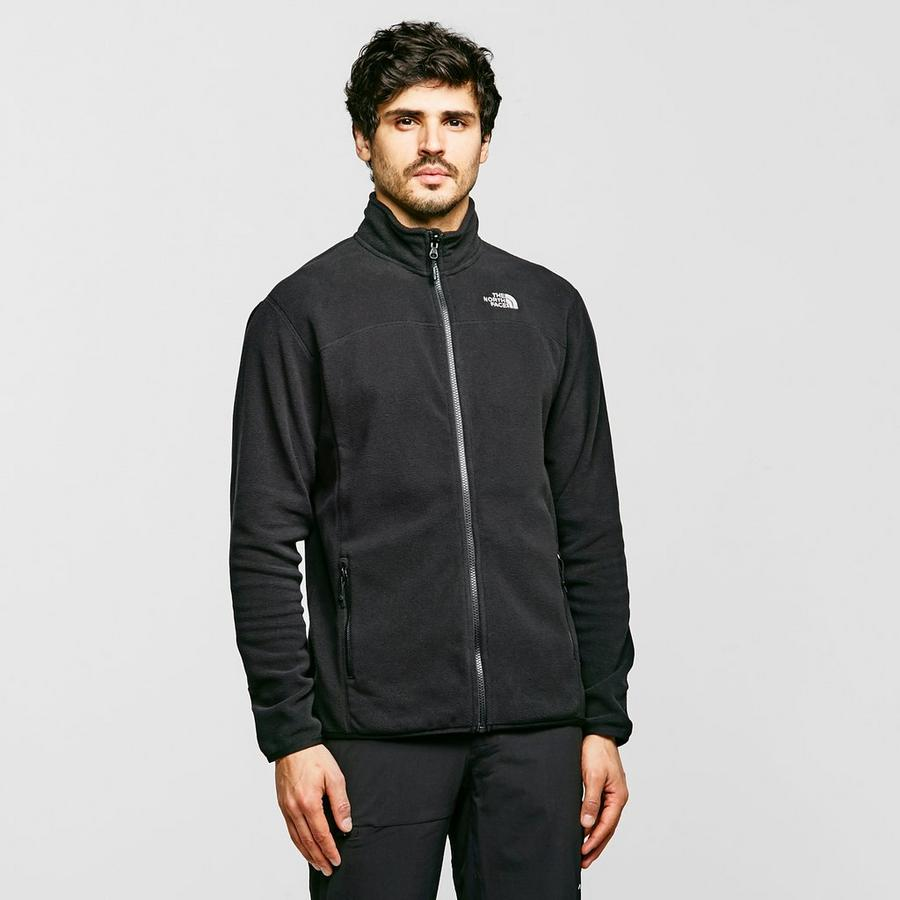 Black The North Face Men's 100 Glacier Full Zip Fleece Jacket