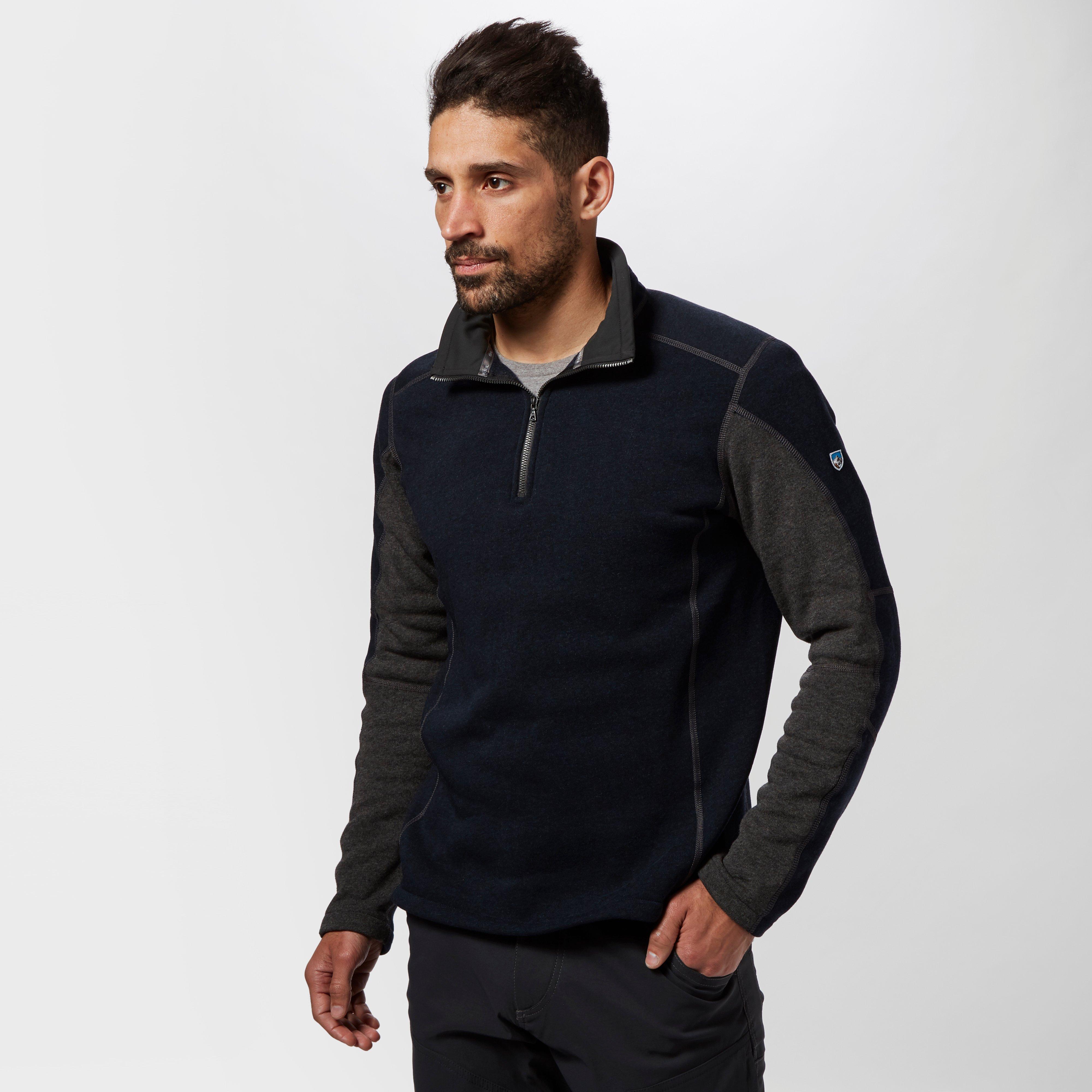 Kuhl Kuhl Mens Revel Quarter Zip Fleece - Blue, Blue