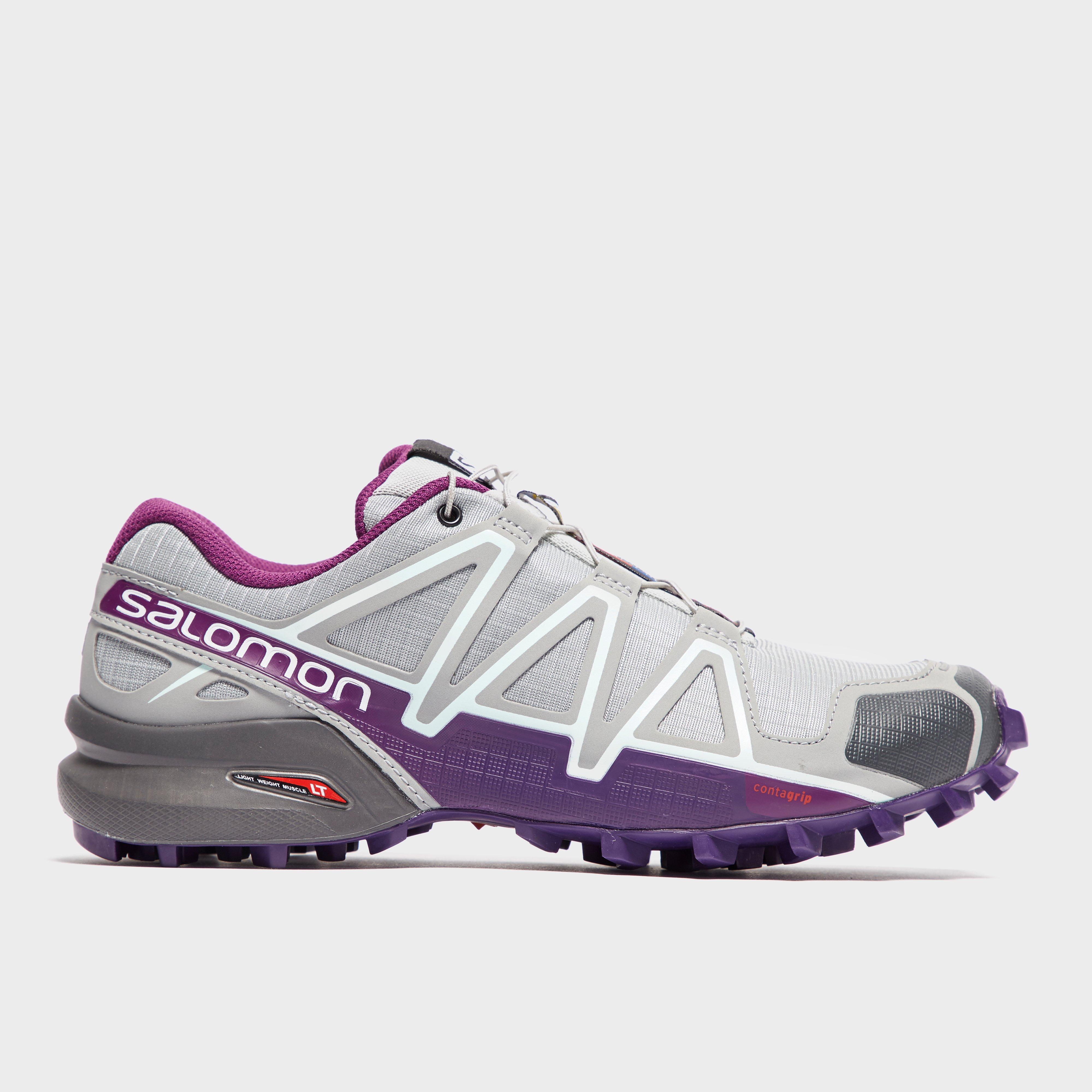 768ae1dbeb87 Light Grey Salomon Women s Speedcross 4 Trail Running Shoes image 1