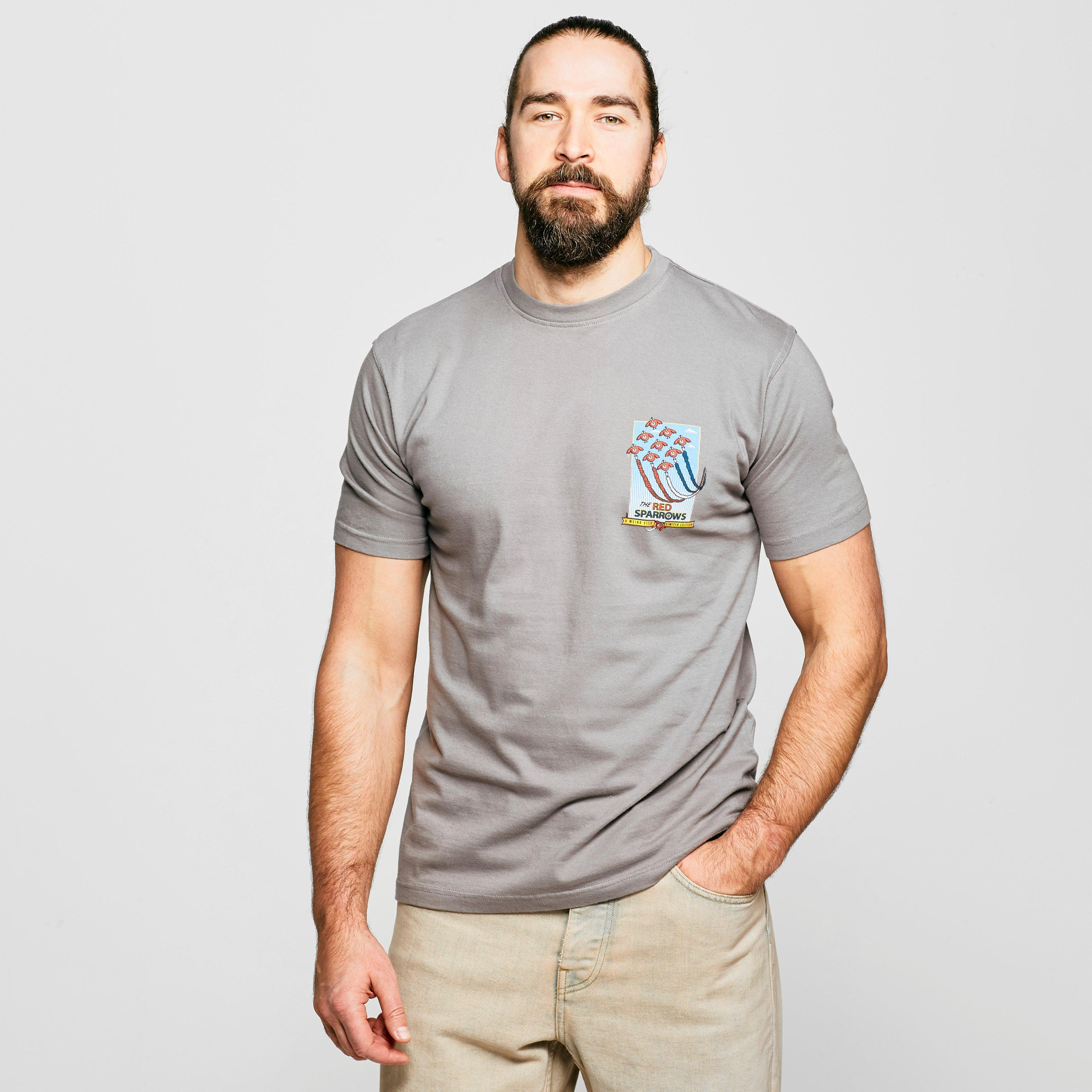 Weird Fish Weird Fish Mens Red Sparrows T-Shirt - Grey, Grey