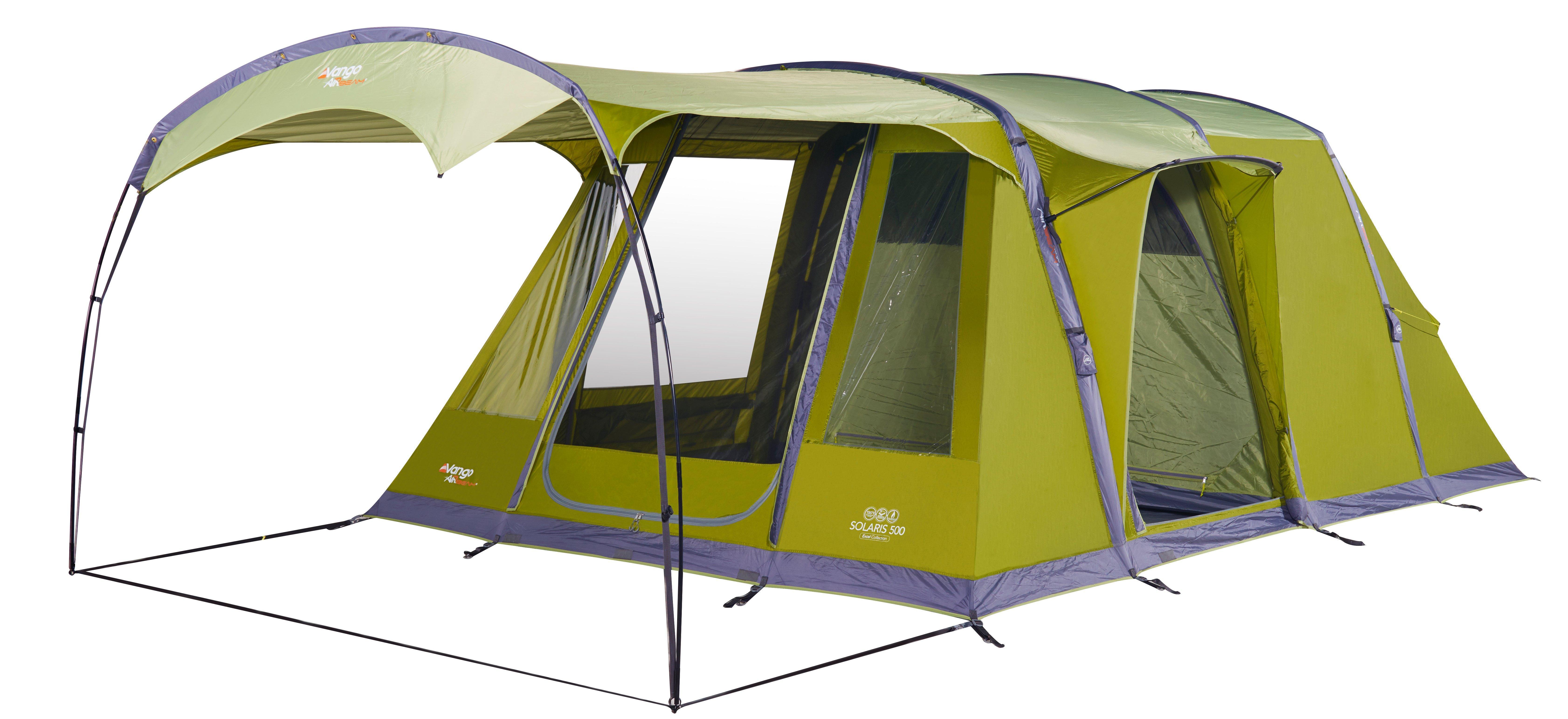 Vango Solaris 500 AirBeam Family Tent  Green Green